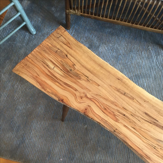 Image of Live Edge Wood Slab Bench or Coffee Table