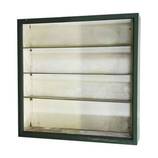 Green Metal Hanging Cabinet