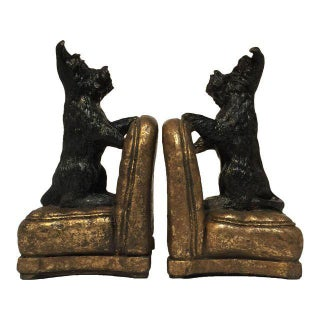 Scottie Dog Bookends - a Pair