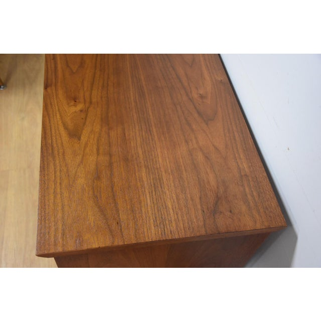Image of Mid-Century Modern Walnut Bar Cabinet