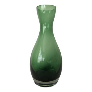 Polish Green Glass Vase