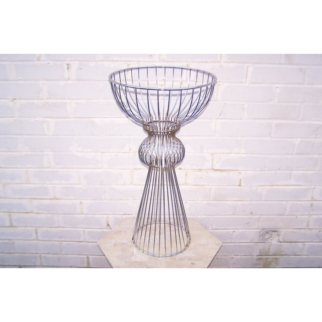 Image of Vintage 1960s Steel Wire Sculptural Plant Stand