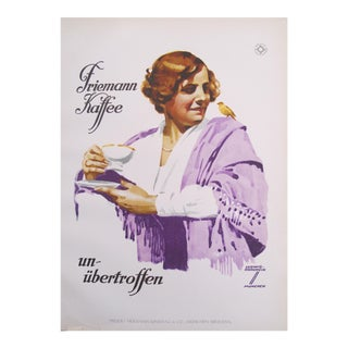 1926 Women's Fashion Poster, Woman in a Purple Shawl