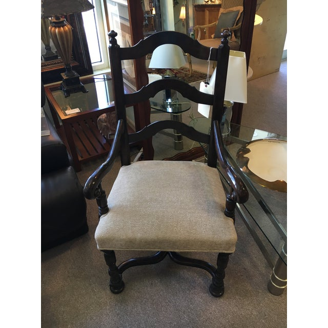 Louis Xlll Wood Ladder Back Chair - Image 2 of 5