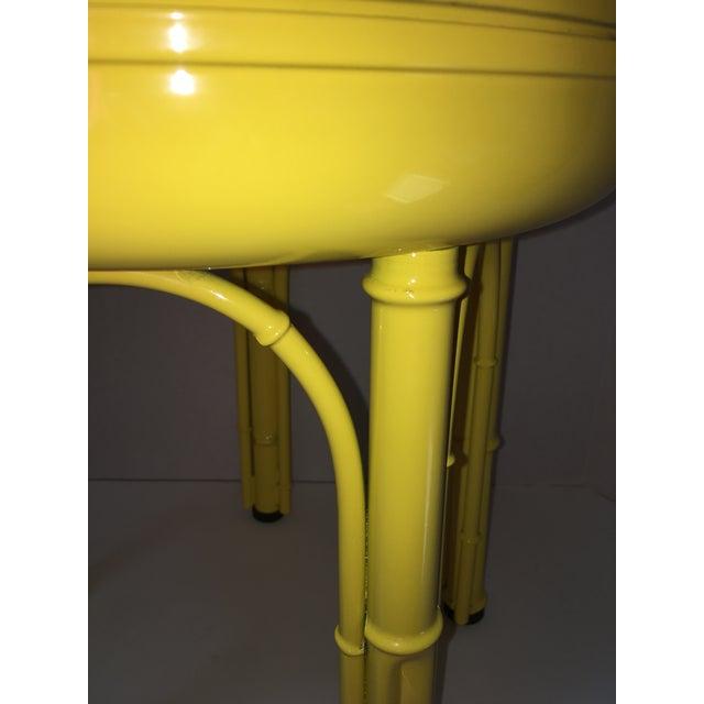 Image of Vintage Mid-Century Metal Storage Stool