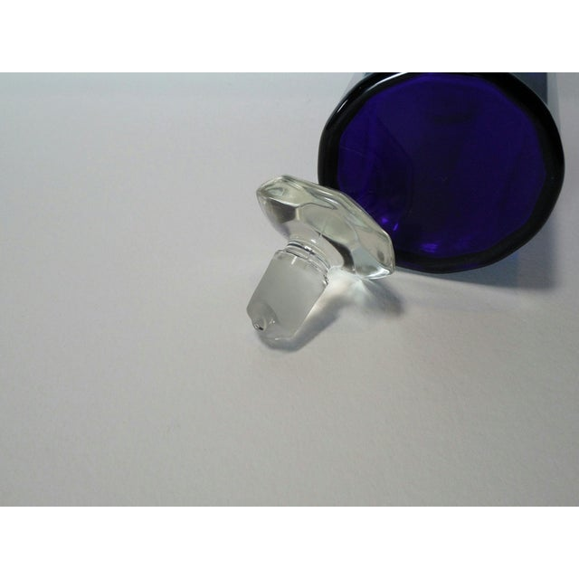 Faceted Cobalt Glass Decanter - Image 6 of 6