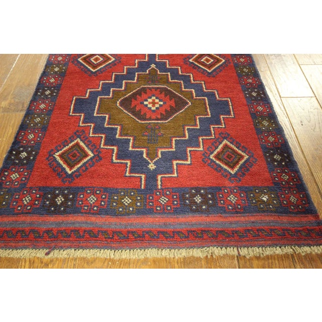 "Persian Tribal Baluch Runner Rug - 2'6"" x 9' - Image 6 of 7"