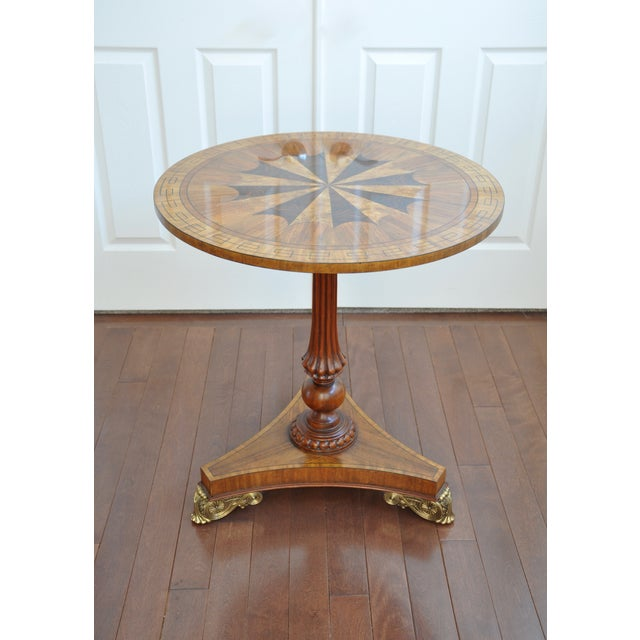 Maitland Smith Inlaid Occasional Table - Image 2 of 6