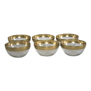 Dorothy Thorpe Gold Band Bowls - Set of 6