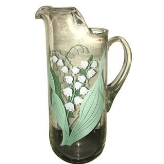 Vintage Glass Lily Fields Pitcher