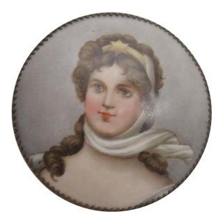 Victorian Porcelain Portrait Keepsake