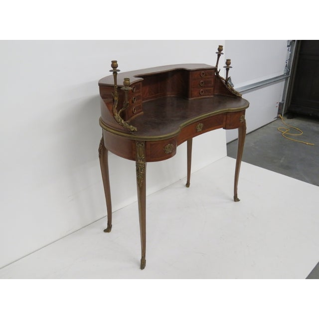 19th C. French Krieger Bronze Mounted Desk - Image 3 of 6