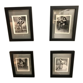 Original Irving Klaw Photos of Pin-Up Bettie Page Shot Between 1952-57 - Set of 4