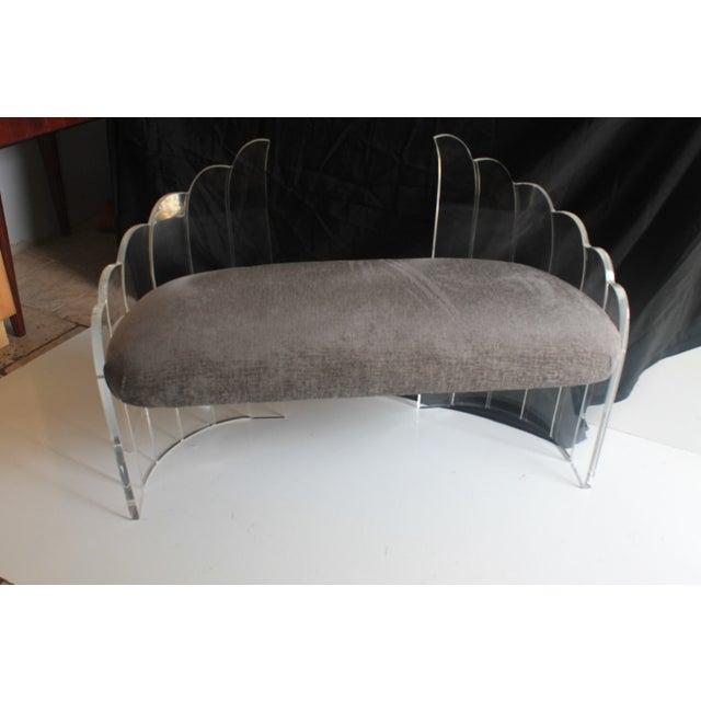 Charles Hollis Jones Vintage Lucite Settee Bench - Image 3 of 10