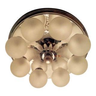 German 1970s High Style Flush Ceiling Light