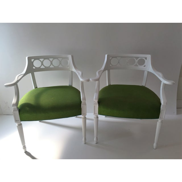 Palm Beach Hollywood Regency Chairs - Pair - Image 2 of 4