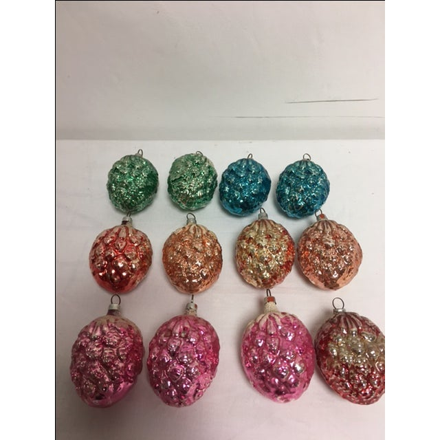 Vintage Christmas Pine Cone Ornaments - Set of 12 - Image 3 of 7