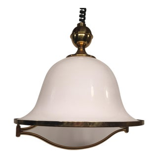 F. Fabbian Italian Extendable Brass Ceiling Fixture