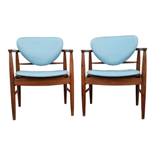Mount Airy Finn Juhl-Style Vintage Chairs - A Pair - Image 1 of 7
