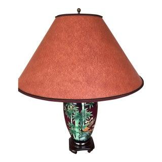 Plum Botanical Japanese Lamp