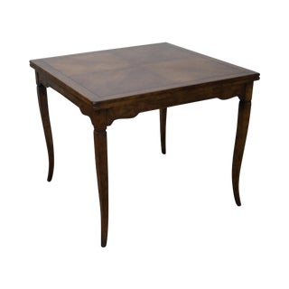 Beacon Hill Italian Style Square Walnut Flip Top Game Table