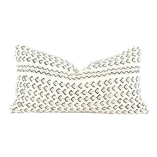Dance Ivory Mudcloth Pillow