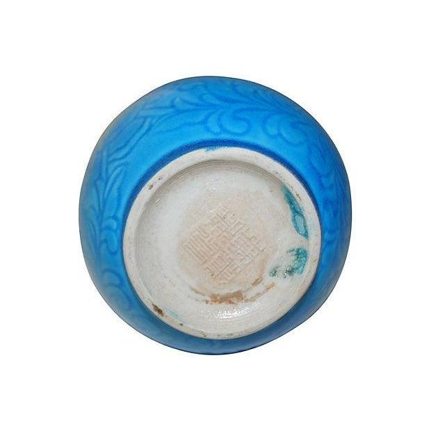 Image of Signed Chinese Turquoise Double Gourd Vase