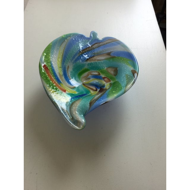 Murano Glass Multicolored Bowl With Gold Flecks - Image 2 of 5