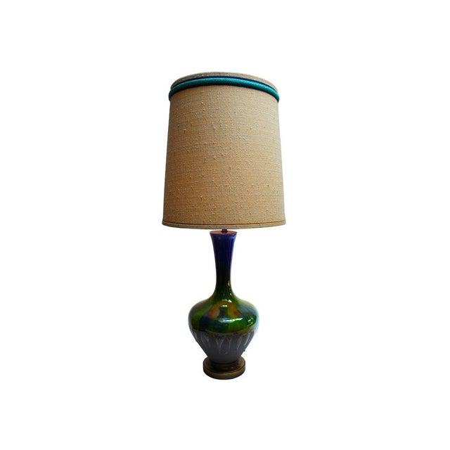 Image of Blue and Green Drip Glaze Lamp