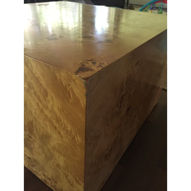 Burl Cube Coffee Table - Image 8 of 9
