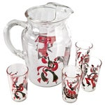 Image of Flamenco Dancer Pitcher And 4 Juice Glasses
