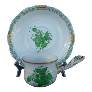 Herend Chocolate Cup & Saucer - A Pair