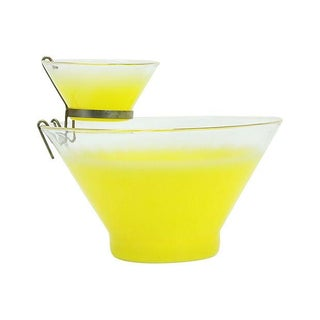 Blendo Yellow Ombre Gold Chip and Dip Bowls