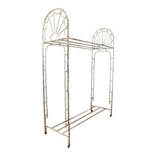 Antique American Hotel Coat and Luggage Rack