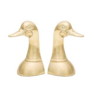 Brass Mallard Bookends - Pair