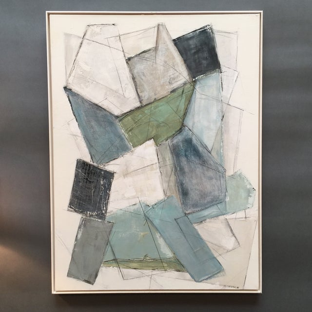 Large Kimberly Moore Rectilinear Acrylic Painting - Image 7 of 7