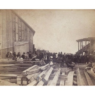 British Columbia Lumber Yard Vernacular Photograph