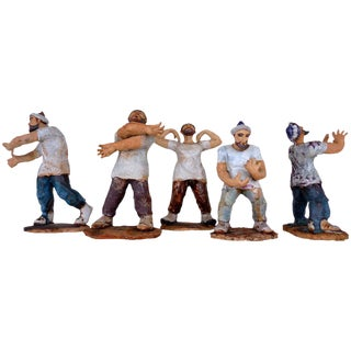 Pottery Figures by Mary Murchio - Set of 5