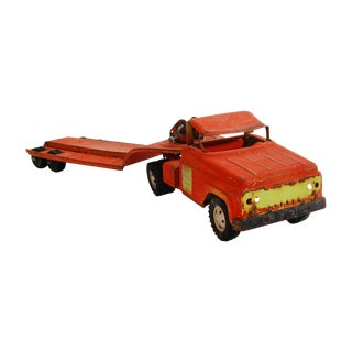 "1950s Tonka ""State Hi-Way"" Tow-Truck Vintage Toy"
