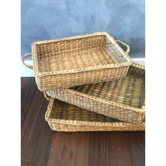 Wicker Basket Trays - Set of 3 - Image 2 of 7
