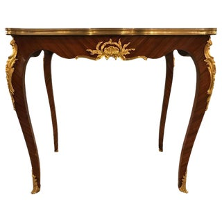 Louis XV Style Tea Table With Dore Bronze Mounted Linke Style