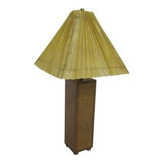 Vintage Sarreid LTD Embossed Leather Table Lamp