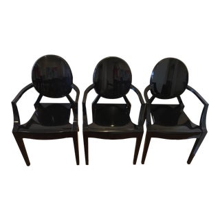 Kartell Louis Ghost Chairs - Set of 3