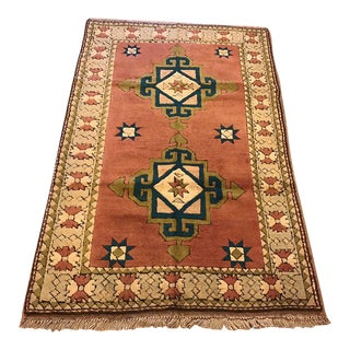 Vintage Kars Turkish Rug - 4' X 6'