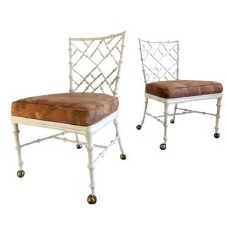 Phyllis Morris Faux Bamboo Chairs - A Pair