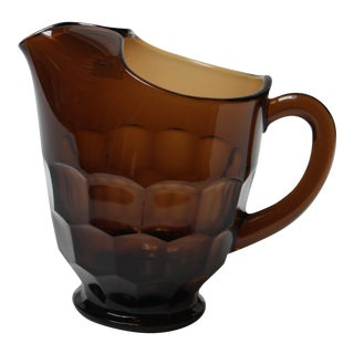 Viking Glass Georgian Honeycomb Pitcher in Chestnut