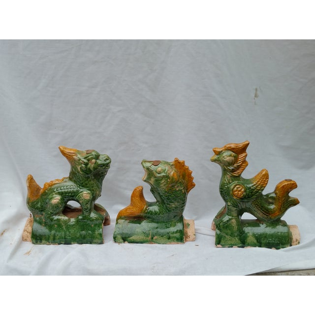 Chinese Terracotta Roof Finials - Set of 3 - Image 2 of 7