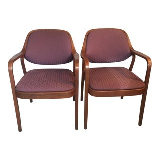 Vintage Knoll Upholstered Chairs- A Pair