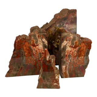 Petrified Wood Bookends - Set of 4