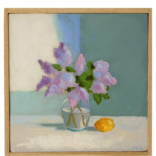 Lilac with Lemon Painting by Anne Carrozza Remick